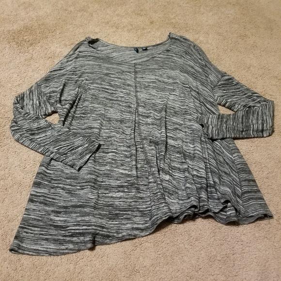 Cynthia Rowley Tops - Cynthia Rowley Marled Gray Long Sleeve Top